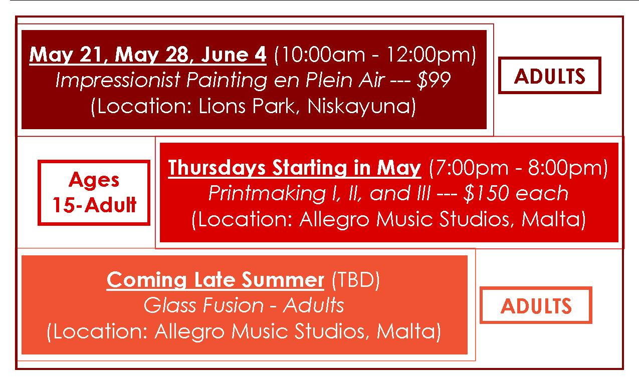 Summer Workshop Schedule